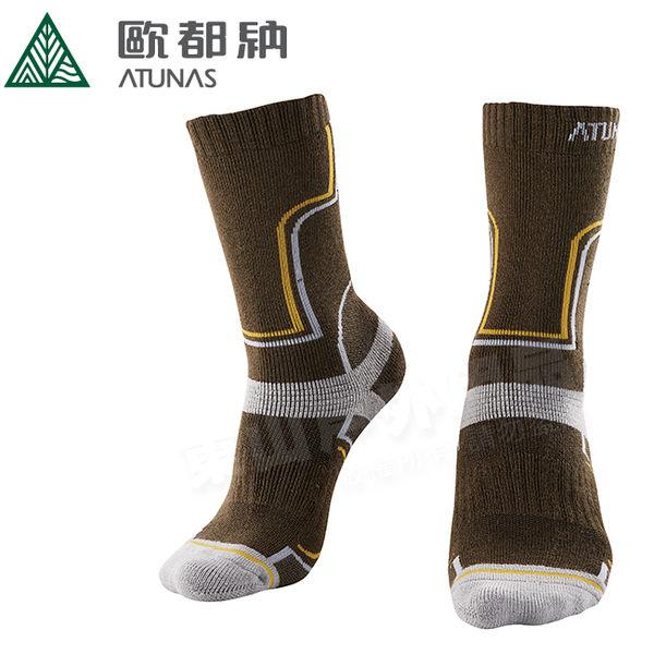 Atunas 歐都納 A-A1733 深棕綠 中筒羊毛登山保暖襪 美麗諾羊毛襪/戶外襪/機能排汗襪/健行雪襪