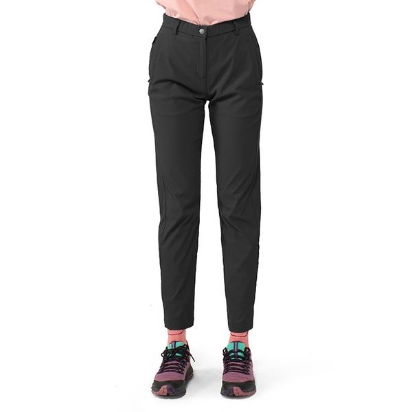 PolarStar 女 彈性合身長褲『黑灰』P21304 戶外 休閒 登山 露營 運動褲 釣魚褲