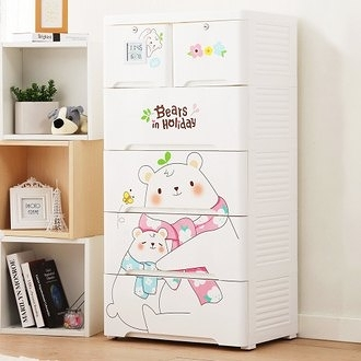 【+O 家窩】薇樂溫濕感測收納櫃-親親小熊-DIY (置物櫃 抽屜櫃 衣櫃 塑膠 整理箱)
