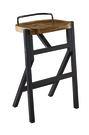 【南洋風休閒傢俱】吧檯椅系列-漢森方型木面吧台椅 美式復古工業風鐵藝吧餐椅 JF489-6