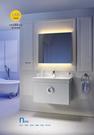 【麗室衛浴】美國KARAT凱樂化妝鏡 附LED燈明鏡雙色燈系 附觸控開關