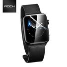 ROCK洛克 AppleWatch水凝膜 高清高透抗指紋 弧面貼合吸附 觸控靈敏 蘋果手錶水凝軟膜 2片裝 附刮板