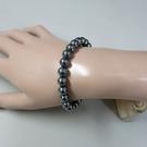 【歡喜心珠寶】【人造鈦赫茲圓珠8mm能量手鍊】25顆.重約14.5g「附保証書」日本最流行能量手鍊