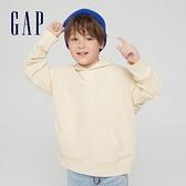 Gap男童 簡約風運動連帽休閒上衣 903477-米黃色