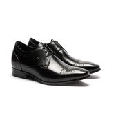 Waltz-簡約雕花內增高紳士德比鞋 213003-02黑