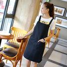 圍裙 廚房酒店美甲奶茶咖啡廳工作服