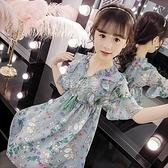 女童仙女連衣裙兒童夏裝新款小女孩洋氣裙子中大童夏季雪紡公主裙 快速出貨