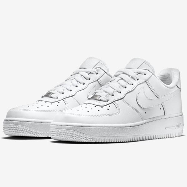 Nike Air Force 1 '07 女鞋 休閒 鐵牌 經典 皮革 白 【運動世界】 315115-112 | 休閒鞋 |