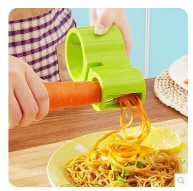 廚房多功能創意手動雙頭螺旋沙漏削絲切菜器LYH1352【大尺碼女王】