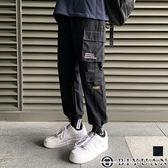 【OBIYUAN】工作褲 復古 側邊大口袋 抽繩束口褲 休閒長褲 共1色【FYMY700】