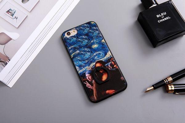 |文創現貨| iPhone 7 Plus i7 i7+ i6+ i6 i6S 6 6S 指環 手機殼 指環扣 指環支架 犀牛盾支架 梵谷 星空