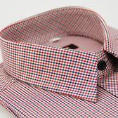 【金‧安德森】黑紅白細格長袖襯衫