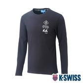 K-SWISS Cotton 66 Logo Tee印花長袖T恤-女-黑