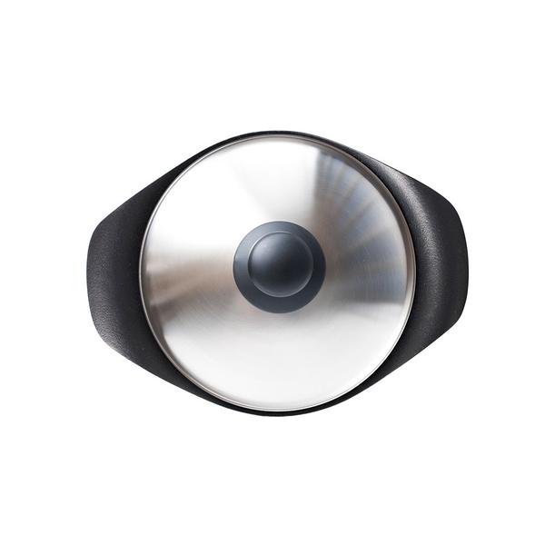 日本 Sori Yanagi Tekki Cast Iron Pan 柳宗理 南部鐵器系列 雙耳 橫紋煎盤(附不鏽鋼蓋)