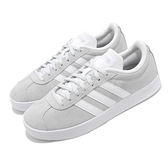 adidas 休閒鞋 VL Court 2.0 灰 白 女鞋 運動鞋 麂皮 滑板鞋【ACS】 FY8812