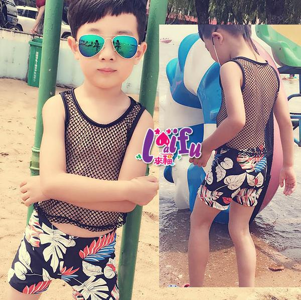 來福兒童泳衣,F56兒童泳衣網狀洞洞舞者小朋友游泳衣二件式泳裝大童,一套售價599元