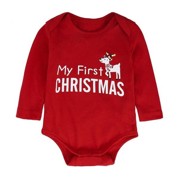 聖誕節 長袖套裝 嬰兒聖誕童裝 寶寶上衣+長褲 SK9340 好娃娃