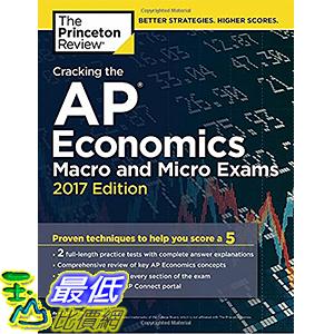 [美國直購] 美國暢銷書 Cracking the AP Economics Macro & Micro Exams, 2017 Edition: Proven Techniques