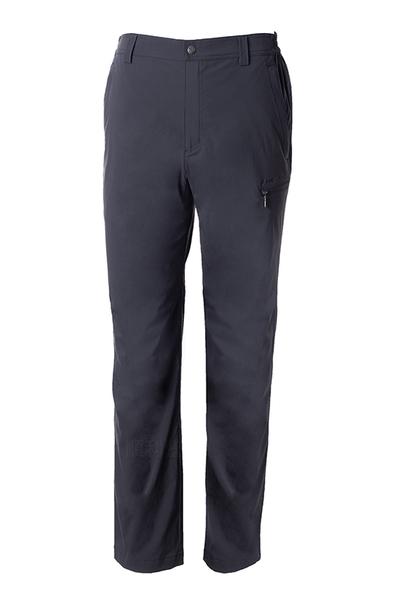 荒野 WILDLAND 男款彈性防潑防風天鵝絨長褲-大尺碼 0A72322 尊爵灰 休閒褲 保暖褲 OUTDOOR NICE