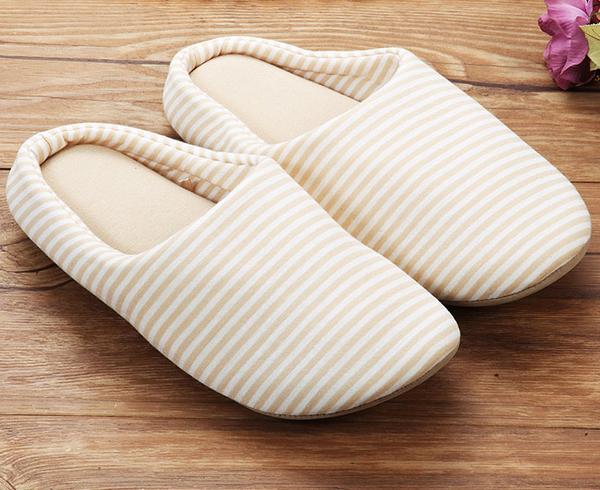 室內 拖鞋 【2入】 【創意巴巴】 日式 厚底 保暖 防滑 室內拖/情侶拖 米黃