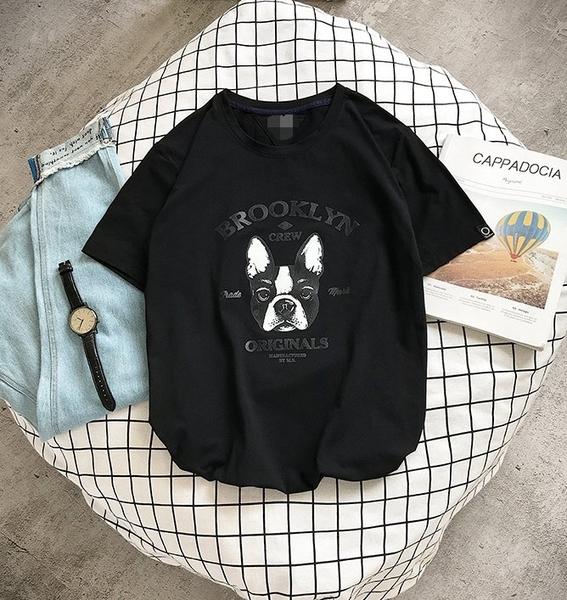 FINDSENSE H1 2018 夏季 新款 男 個性 小狗印花 大碼 情侶