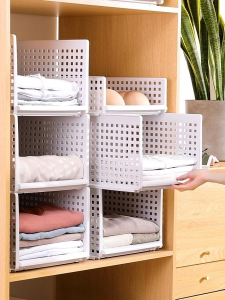 衣櫃疊衣板宿舍收納神器特大號衣服收納筐抽屜式整理箱塑料收納架