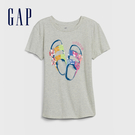 Gap 女童 創意亮片裝飾短袖T恤 577839-石楠灰色