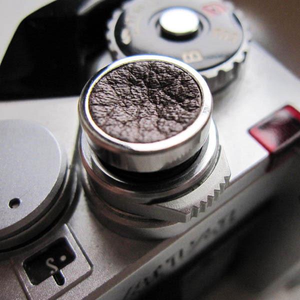 (BEAGLE ) 真皮+不鏽鋼 快門鈕 增高鈕(SBL-101) 適用:X30/X-T10/X-T1/X100T/X-Pro2/Leica/ FM2/PEN-F/RX1RII 等相機