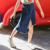 現貨 2019夏季短裙 女童牛仔半身裙包臀 時尚韓版百搭童裙 (8歲以上) 牛仔裙