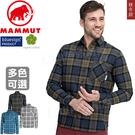Mammut長毛象 1015-00700_多色 男保暖透氣長袖襯衫Trovat休閒格紋/排汗機能衣/戶外中層衣