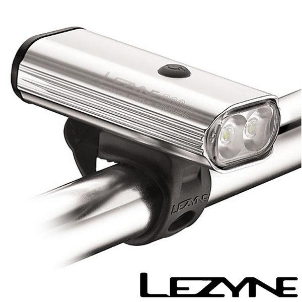 LEZYNE POWER DRIVE 900XL USB 自行車 充電 光學透鏡 LED 高亮度 競速 夜騎 照明 警示 前燈(銀)