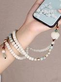 手機掛飾 中國風菩提瑪瑙掛脖掛手腕長款短手機鏈古風掛繩男女毛衣項鏈掛件 瑪麗蘇