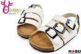 HABU韓版 柏肯涼鞋 小童 輕量舒適 時尚穿搭 G6292#白色◆OSOME奧森童鞋/小朋友