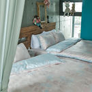 床包兩用被套組 / 雙人特大【夢遊愛麗絲】含兩枕套,奇妙童話時光,100%精梳棉