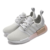 adidas 休閒鞋 NMD_R1 W 灰 金 襪套式 女鞋 避震 女鞋 【PUMP306】 FU9349