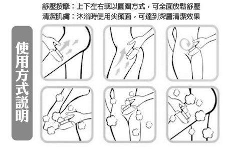 SPA按摩曲線雙面手套體刷 (不挑色)