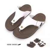 [Here Shoes] 男款- 美式休閒4.5CM厚底拖鞋休閒度假出國旅行男鞋夾腳拖人字拖─KBP-0168