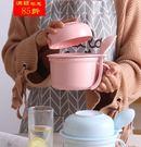 馬卡龍色陶瓷泡面碗帶蓋日式北歐泡面杯碗家用大號學生飯盒宿舍碗