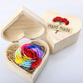 新款木盒香皂花禮盒永生玫瑰花生日情人節禮物公司活動母親節禮品