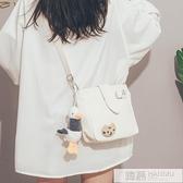 可愛小包包女2020新款潮古著感文藝帆布斜背包韓國校園單肩包  母親節特惠