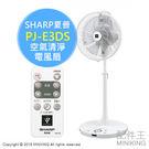 【配件王】 日本代購 SHARP 夏普 PJ-E3DS 空氣清淨 電風扇 立扇 負離子 32段