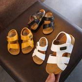 女童涼鞋 夏季新款童鞋兒童涼鞋男童縫線簡約軟底涼鞋女童寶寶沙灘鞋潮 BBJH