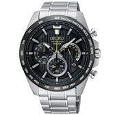 【均一價$6180】SEIKO 精工 Criteria極速時尚三眼計時錶-44mm/黑/8T63-00G0D(SSB303P1)