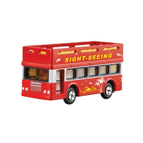 A&L奧麗迷你合金車 NO.73 雙層巴士 迴力車 遊覽車 大客車 模型車(1:64)【楚崴玩具】