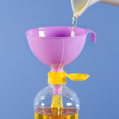 糖果色分裝漏斗 廚房 工具 醋 酒 水 塑料 家用 瀝水 油 調味料 控量 烘焙 【N056】MY COLOR
