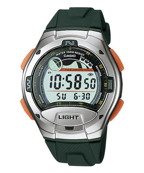 CASIO卡西歐 W-753-3A 電子錶 潮汐月相 計時碼表 倒數計時 兩地時間 日期 40mm 男錶 學生錶 軍錶 W-753-3A