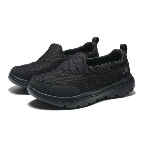 SKECHERS GO WALK EVOLUTION ULTRA 全黑 寬楦 防潑水 健走鞋 女(布魯克林) 15767WBBK