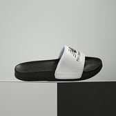 New Balance 黑白 LOGO 防潑水 韓國 休閒 涼拖鞋 SD1101HWB