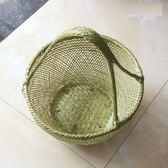 採摘籃竹藍竹編竹籃手提籃編織菜藍子廚房野餐籃子大容量 潮流衣舍