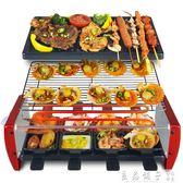 電燒烤爐110V現貨韓式家用不黏烤盤無煙烤肉機室內鐵板燒烤肉鍋多功能烤魚  良品鋪子